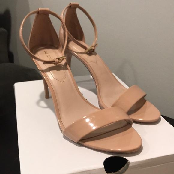 ea3af9df9 Aldo Shoes   Cally Blush High Heel Anklestrap Sandals   Poshmark